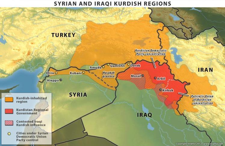 le-regioni-dei-curdi