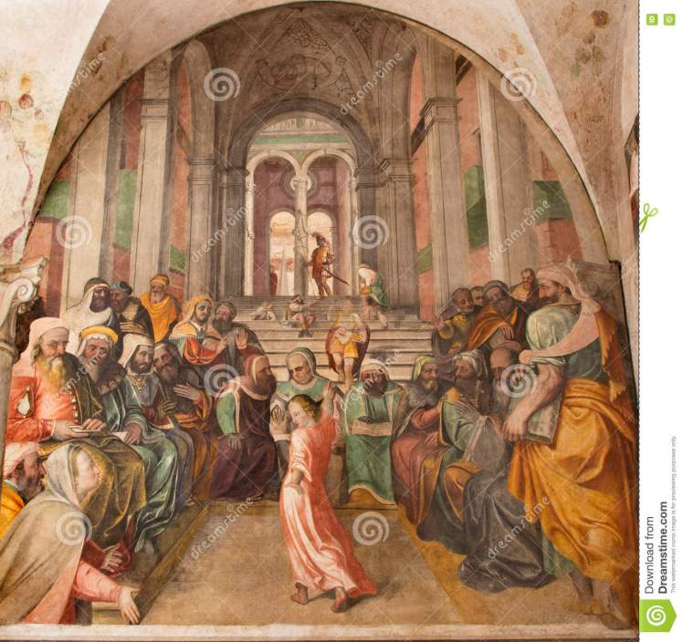 brescia-dodici-gesù-anziano-nel-tempio-da-lattanzio-gambara-di-cristo-di-chiesa-del-santissimo-corpo-della-chiesa-79171911