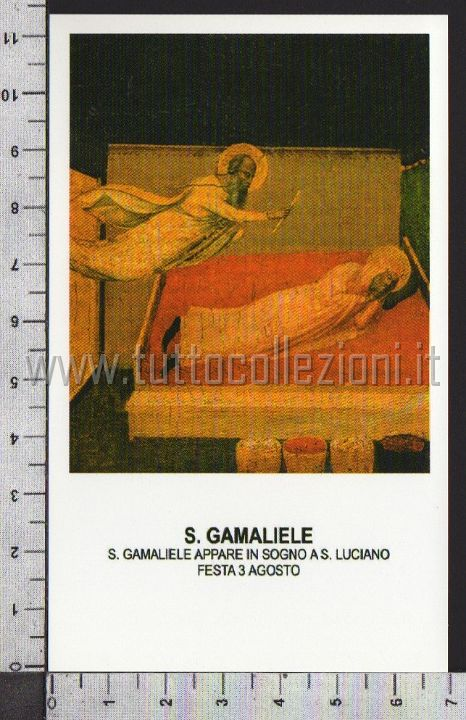 Xsa-25-54 S. San GAMALIELE APPARE IN SOGNO A S. LUCIANO Santino Holy card